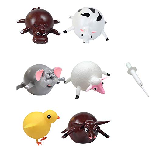 SODIAL 1 Juego de Divertido Juguete de Soplado de VentilacióN de Animales, Bola de Dinosaurio Inflable Juguetes para NiiOs Juguetes de Fiesta Novedosos para Apretar con Globos