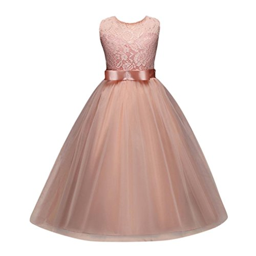 Mädchen Prinzessin Kleid Sannysis Verrücktes Kleid Partei Kostüm Outfit Prinzessin Kleid Märchen Kostüm Cosplay Mädchen Halloween Kostüm Maxi Kleid (Rosa-Prinzessin, 170)