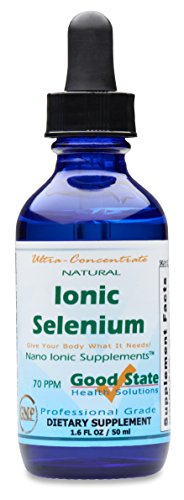 (Glass Bottle) Good State - Liquid Ionic Selenium Ultra Concentrate (10 Drops Equals 70 mcg) (100 Servings per Bottle)