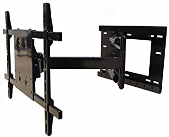 Wall Mount World - TV Wall Mounting Bracket with 31 Inch Extension 90 Degree Swivel Left and Right 15 Degrees of Adjustable Tilt fits Samsung QN49Q65FNFXZA QN49Q65FNFX QN49Q65FNF QN49Q65FN TVs