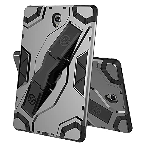 ZHIWEI Tablet PC Tasche Tablet-Hülle für Samsung Galaxy Tab S4 T835, TPU + PC Stoßfest Multifunktionsschutzabdeckung mit Klappgriff Kickstand (Color : Black)