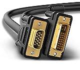 DVI to VGA Cable, 10 Feet 24 Pin DVI to 15 Pin VGA Dual Link Cable