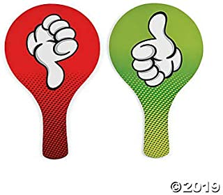 Thumbs Up / Thumbs Down Classroom Voting Paddles (set of 24)