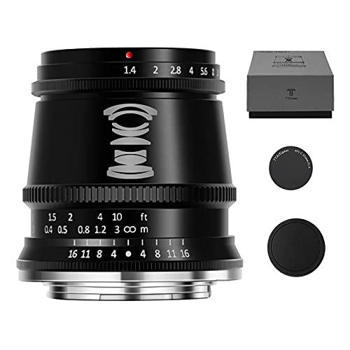 TTArtisan F1.4 APS-C - Obiettivo grandangolare per fotocamera grandangolare da 17 mm, compatibile con Fuji X-T3 X-T4 X-E1 X-E2 X-E3 XS10 X-H1 X-T1 X-T10 X-PRO1 X-PRO2 X-PRO3