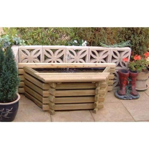 Norlog New Garden Pool Flat Back 25 Gallon Fish Pond with Liner Outdoor...