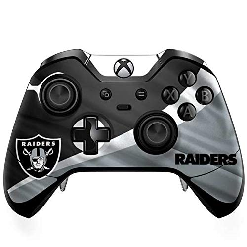 Skinit Decal Gaming Skin Compatible with Xbox One Elite Controller - Officially Licensed NFL Las Vegas Raiders Design