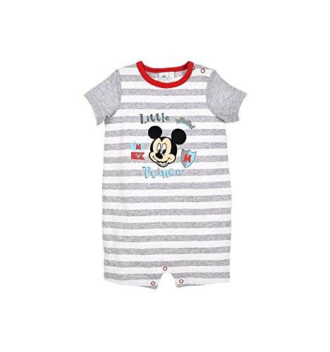 Barboteuse bébé garçon Disney Mickey Gris et Bleu de 3 à 18mois - Blanc/Gris, 6 Mois