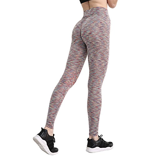 Pants Fitness Push Up Leggings Pantalon Femme Sweatpants Streetwear Pencil Pants Damen Hose Gr. L, Gelb gestreift