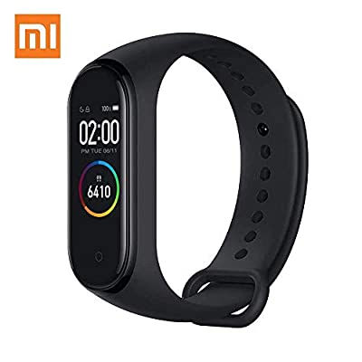 "Xiaomi Mi Band 4 Fitness Tracker, Newest 0.95"" Color AMOLED Display Bluetooth 5.0 Smart Bracelet Heart Rate Monitor 50M Waterproof Bracelet with 135mAh Battery up to 20 Days Activity Tracker (Black) by Edward"