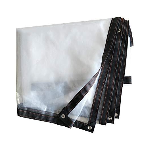 PENGFEI Bâche De Protection Transparent Isolation Multi-viande Joint De Fenêtre Coupe-vent Boutonnière En Métal, Polyéthylène, 18 Tailles (Couleur : Clair, taille : 4X5m)