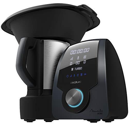 Cecotec Robot de Cocina Multifunción Mambo 8090. Capacidad 3,3L, Cuchara MamboMix, 30 funciones, Báscula Incorporada, Jarra de Acero Inoxidable Apta para Lavavajillas, Cestillo de Hervir, Recetario.