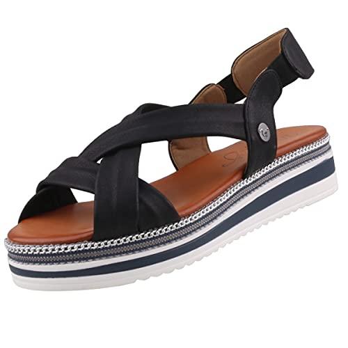 MUSTANG Damen 1390-801 Sandale, schwarz, 37 EU