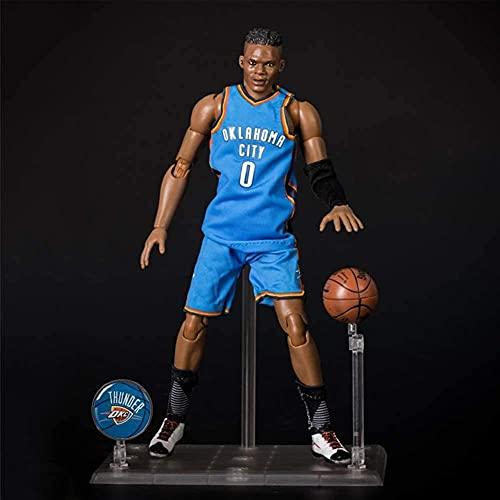 NBA L Star Series 1/9 Scale Action Figures Westbrook Modello No.0 D oklahoma City PVC Cartoon Statue Decorazioni Ornamenti Regalo popolare