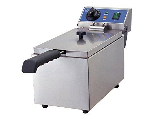 G1 Friggitrice elettrica professionale in acciaio inox, 2000Watt, 6litri, Termostato di sicurezza; WF 061GGG