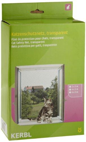 Kerbl 82653 Katzenschutznetz 2 x 3 m, transparent