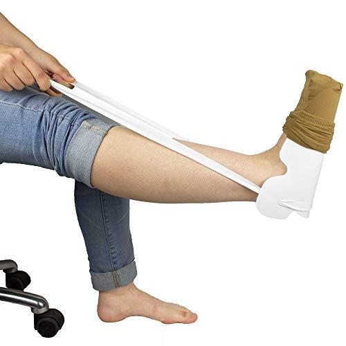 Mobiclinic, Calzador de medias y calcetines contorneado, Ayuda para poner calcetines y medias, Cómodo, Fácil de Usar