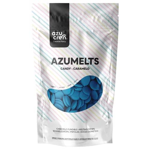 Azumelts - Cobertura para Repostería para Cubrir, hacer Dripping o Dibujar en Dulces - 250 G (Azul)
