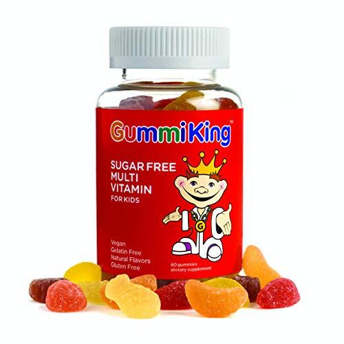 Gummi King Sugar-Free Multivitamin Supplement, Strawberry/Lemon/Orange/Grape/Cherry/Grapefruit, 60 Count