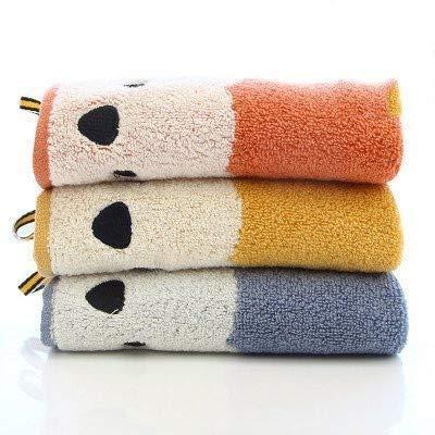WLLLO 3 kleine Baumwolle Handtücher, alle Baumwolle Kinder Handtücher, weiches Wasser saugfähigen Cartoon Haken, Handschals und Handtücher, DREI Farben jeweils.