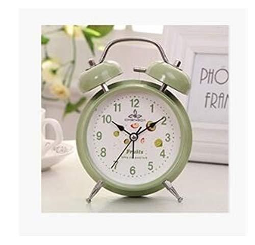FIRMLEILEI Mejor Estudiante Venta Despertador Gemelo de Bell del Escritorio Relojes Mesita de Noche con luz de Noche Decoración Despertador (Color : 8 Small)
