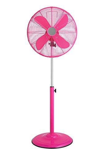 Premier Housewares - Ventilador oscilante de pie con 3 velocidades, color rosa