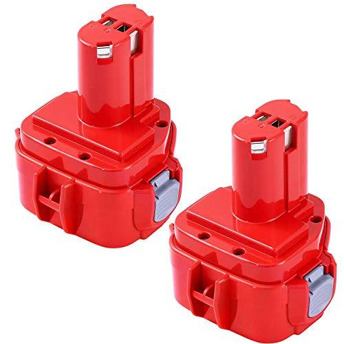 2x GatoPower 3.0AH Ni-MH di ricambio per batteria Makita 12V PA12 1233 1234 1235 1235B 1235F 192696-2 192698-8 192698-A 193138-9 193157-5 Utensile a batteria