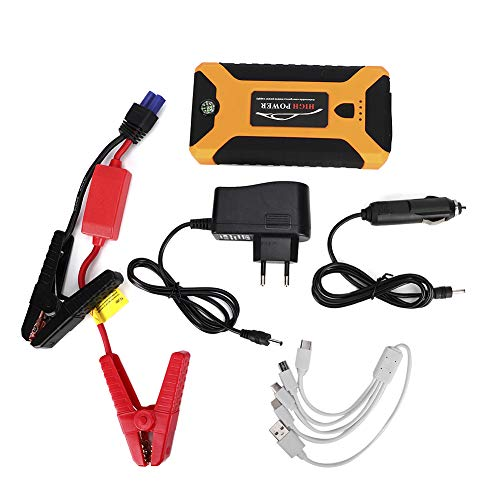 Auto-Starthilfe, Aramox-Notstromversorgung für Kraftfahrzeuge 12-V-Autobatterie-Booster 20.000 mAh SOS-Lampe Notebook-Ladegerät 110-240 V Tragbare Power Bank(EU Plug)