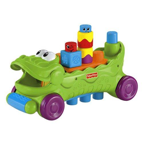 Fisher-Price Stack 'n Surprise Blocks Musical Croc Block Wagon