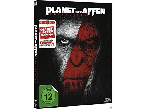 Planet der Affen - Exklusiv Digipak Box Set - Prevolution & Revolution - inkl. Kinogutschein für Planet der Affen: Survival - inkl. Leerplatz für Teil 3 - 2 x Blu-ray