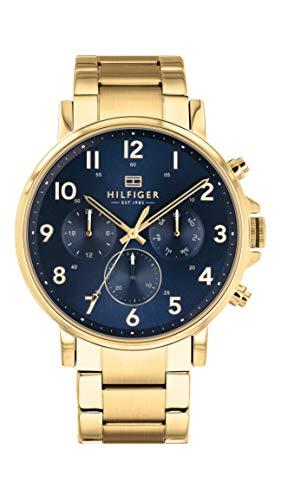Tommy Hilfiger 1710384 - Reloj de cuarzo para hombre con correa de acero inoxidable, color dorado
