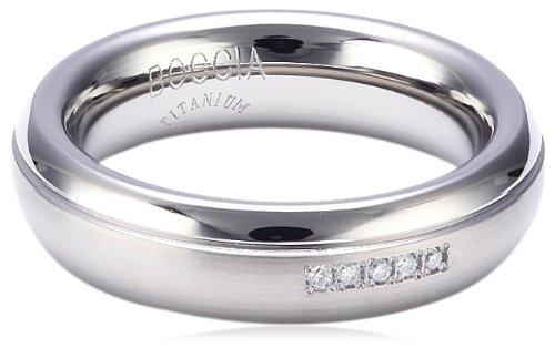 Boccia Damen-Ring teilpoliert Titan 5 Brillanten GR.51 0130-0951