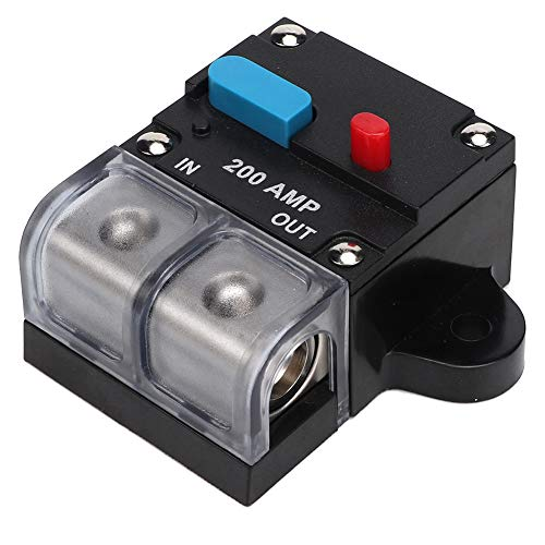 KIMISS 2pcs 80A/200A Interruptor de circuito reiniciable para automóvil Fusible de recuperación automática Botón de reinicio manual(200A)