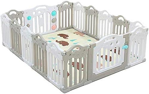 FJIE Baby-Laufstall, Kindersicherheitszaun Bodenmatte Spielplatz Innen, Baby Zaun Spielbereich, 188,5 X 151,5 X 60 cm (Größe   188.5X151.5X60CM)