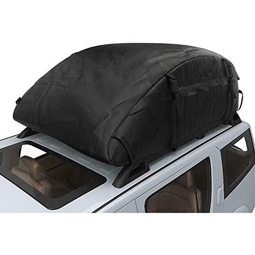 GUE Bolsa de Techo para Coche de 135x100x45cm, Maletero SUV, Equipaje de Carga, Portaequipajes Impermeable, Bolsa de Viaje de Almacenamiento Negro