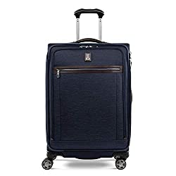 cheap Travelpro Platinum Elite Soft Side Case, Pull-out Rotating Wheel, True Navy, Check Medium …