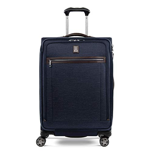Travelpro Platinum Elite - Softside Expandable Spinner Wheel Luggage, True Navy, Checked-Medium 25-Inch