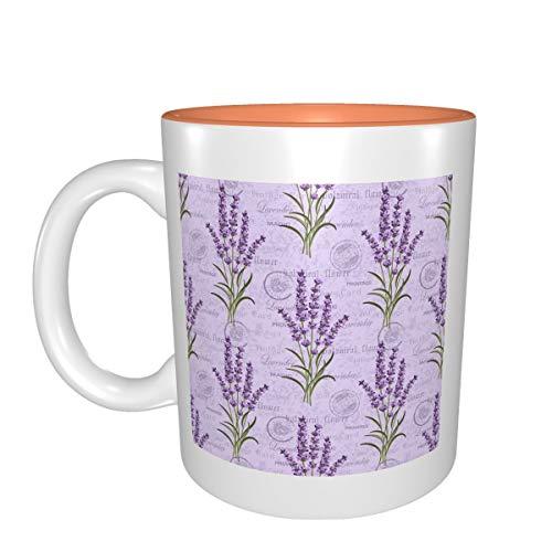 Retro lavanda mejor idea regalo de cumpleaños para tazas de porcelana