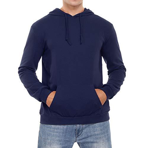 Sykooria Sudadera con Capucha para Hombre Camiseta Deportivo de Manga Larga Hoodie con Bolsillo Invierno Otoño Casual Correr Entrenamiento
