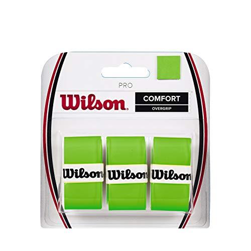 Wilson Pro Overgrip für Tennisschläger, 3er Pack, grün, WRZ470810