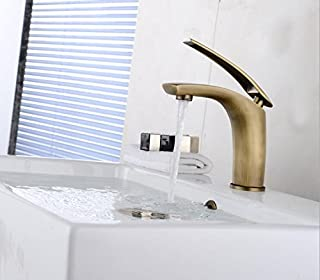 TougMoo Fancy Design Multi-Color Painting Faucets Gold Chorme White Red Antique Brushed Black Faucet Crane Basin Tap Zr590,Light Grey