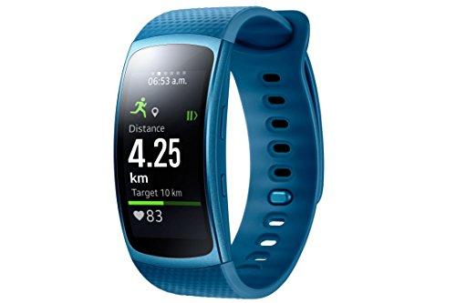 Samsung Gear Fit 2 Smartwatch mit Pulssensor und Benachrichtigungen - Blau (L)