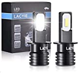 Bombilla H3 LED Coche, Lacyie 60W 3000 LM Xenon...