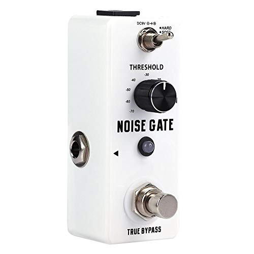 Huairdum Noise Gate Guitar Effect Pedal, Mini Metal Shell Analog Noise Gate Guitar Effect Pedal with True Bypass Instrument Accessory for Music Lovers