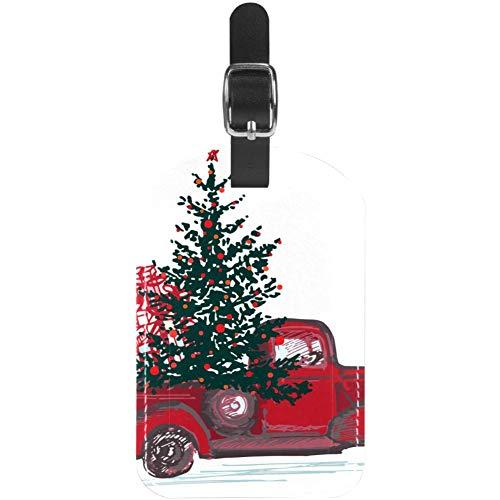 Etiquetas de Equipaje para Coche con diseño de árbol de Navidad