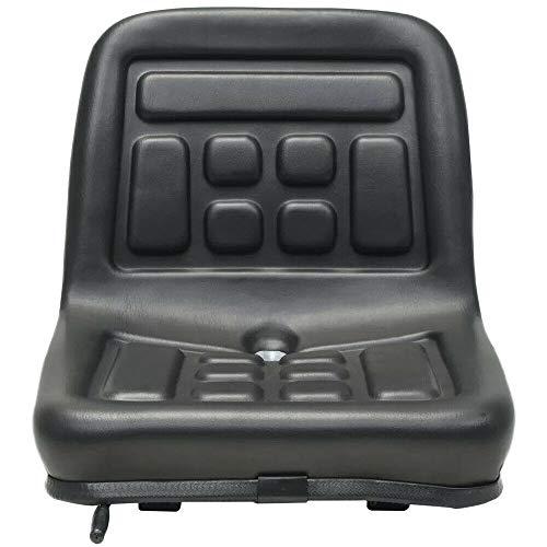 Kaibrite Traktor und Gabelstaplersitz mit Gepolsterter Rückenlehne Traktorsitz mit Ablaufloch Horizontal Einstellbar Über 150 mm.