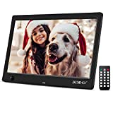 Beschoi 10 inch Digital Photo Frame 16:9 IPS Screen Digital Picture Videos Frame with Motion Sensor& Remote Control, Support 32G SD and USB,1080P Video/Background Music/MP3/Calendar/Clock/Alarm