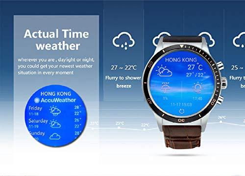 ZHAOHAONB Intelligente Uhr Y3 Android 5.1 Smartwatch für Handys mit SIM-Karten-Slot wasserdicht Bluetooth GPS Smartwatch Herren- und Damenuhr, braun