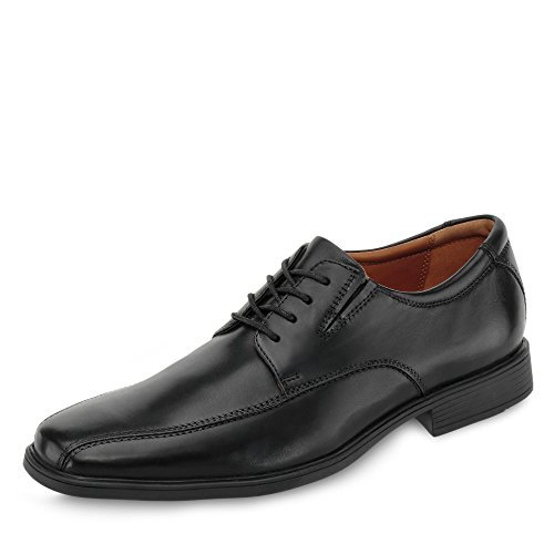 Clarks Tilden Walk, Zapatos de Cordones Derby Hombre, Negro (Black Leather-), 42 EU