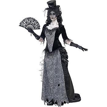 Smiffys-24575L Disfraz de Viuda Negra de Ghost Town, con Parte de ...