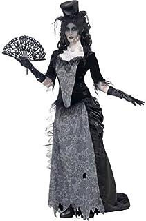 comprar comparacion Smiffys-24575L Disfraz de Viuda Negra de Ghost Town, con Parte de Arriba, Falda y sombrer, Color Gris, L - EU Tamaño 44-46...